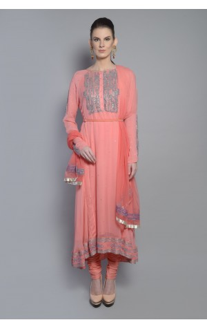 RAGLAN SLEEVE PANELED ANARKALI