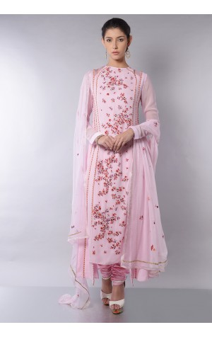 SIDE PANELED EMBROIDERED ANARKALI