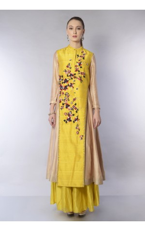 ASYMMETRIC JACKET LAYER ANARKALI