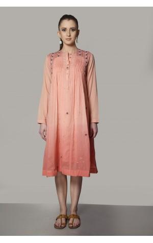 PINTUCKS DETAIL SHORT DRESS