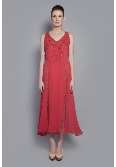 ORGANZA PANEL DORI DRESS
