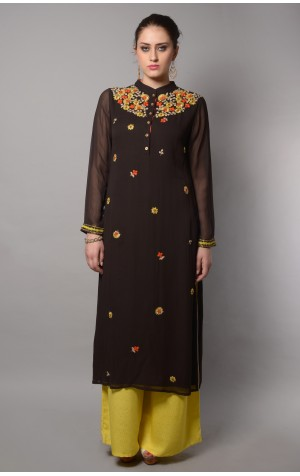 SCATTRED NECK KURTA SET