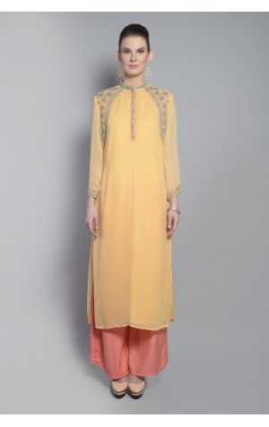 SHOULDER YOKE KURTA SET