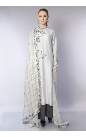 ASSYMETRIC PLACKET KURTA SET