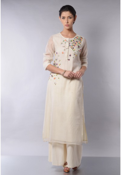 SCATTRED FLORAL KURTA SET