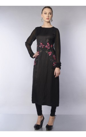 ORGANZA SIDE PANEL KURTA SET
