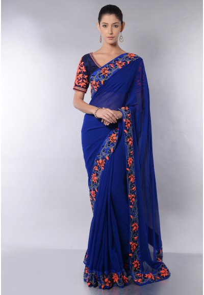 DORI BORDERED SAREE