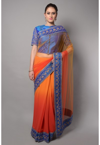 OUTLINE BORDER SAREE