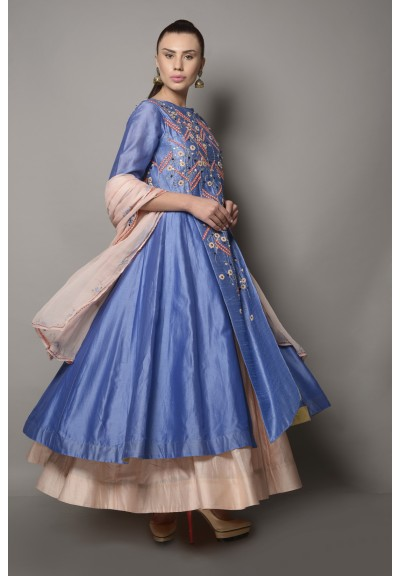 ASYMMETRIC JACKET LAYERED ANARKALI