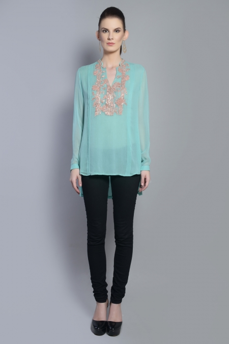 PINTUCKS  BLOUSE