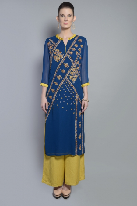 ABSTRACT MOTIF KURTA SET