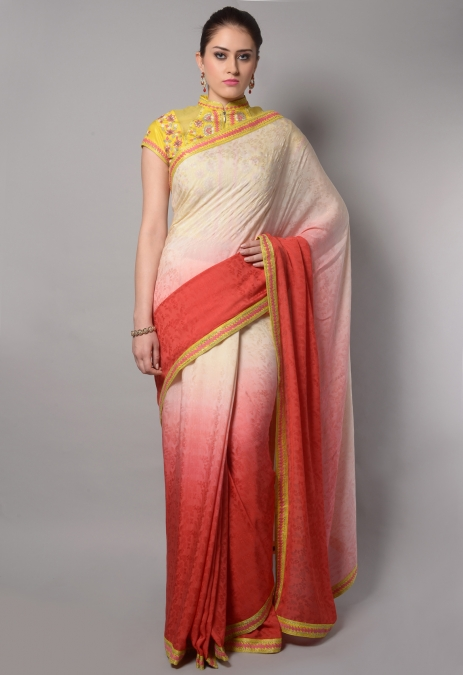 ANCHOR OUTLINE BORDER SAREE