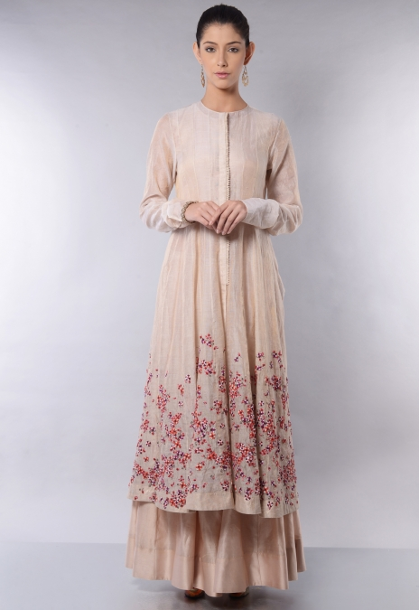 PANELED JACKET ANARKALI