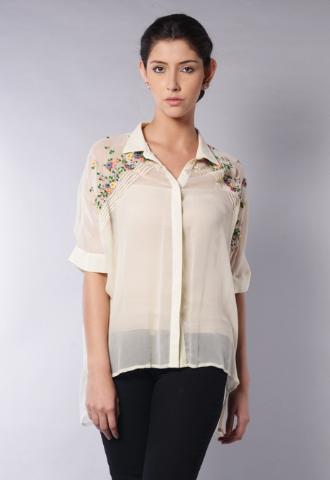 SLOPE PLACEMENT BLOUSE