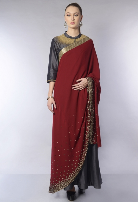 SEQUENCE SHIRT DRESS SAREE