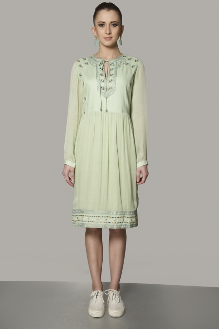 YOKE SHORT DRESS