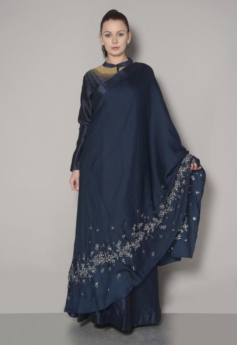 TONAL SHIRT DRESS SAREE