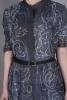 STENCIL HAND PRINT SHIRT DRESS