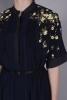FLORAL YOKE PINTUCKS DRESS
